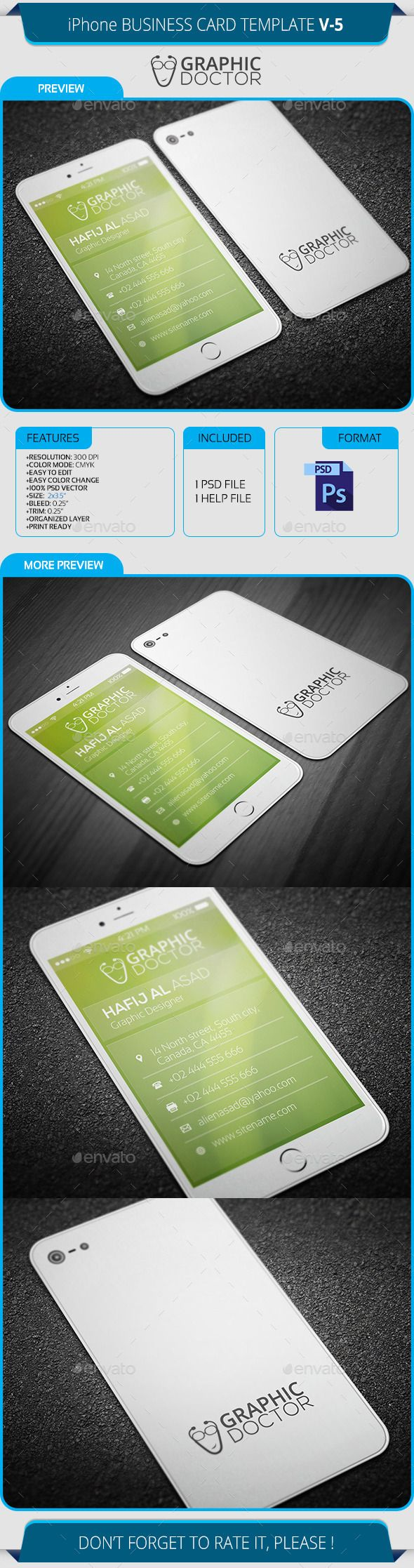 Iphone business card template v 5 card templates business cards iphone business card template v5 photoshop psd smartphone stylish available here reheart Gallery