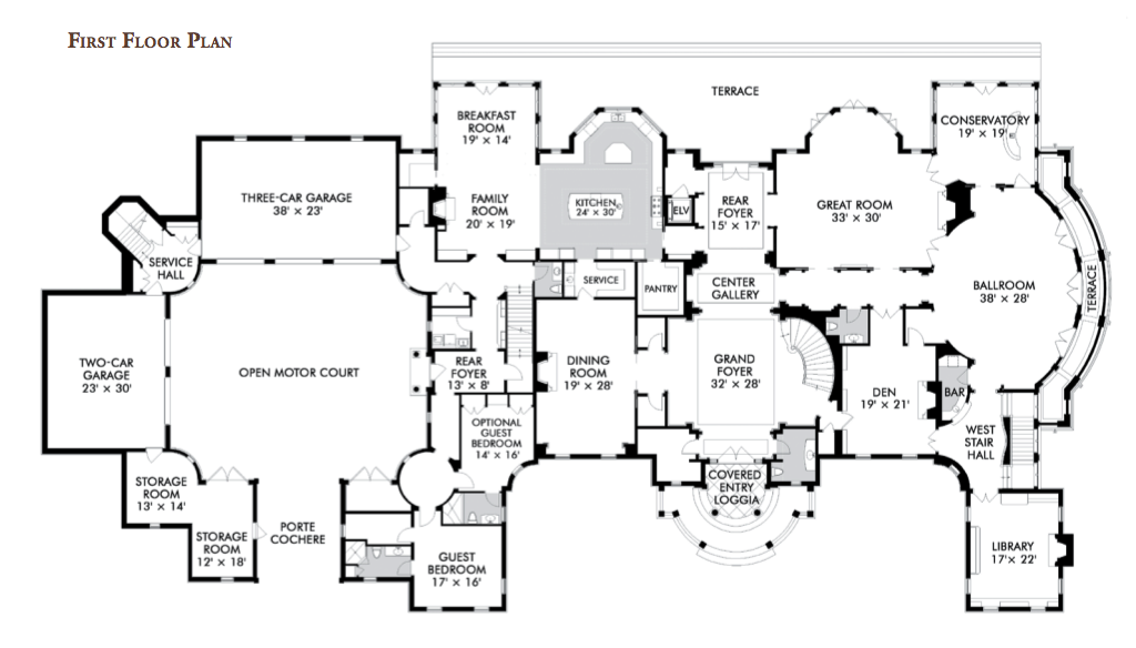 Stone Mansion Main Floor Mansion Floor Plan Stone Mansion Floor Plans