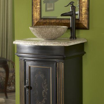 My bathroom Granite Round Vessel Sink! #roundvesselsink