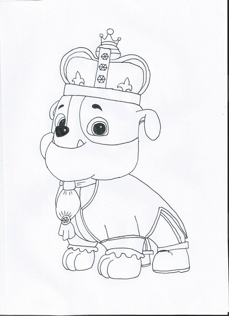 Paw patrol coloring pages game - Rubble Paw Patrol Coloring Pages Coloring Pages
