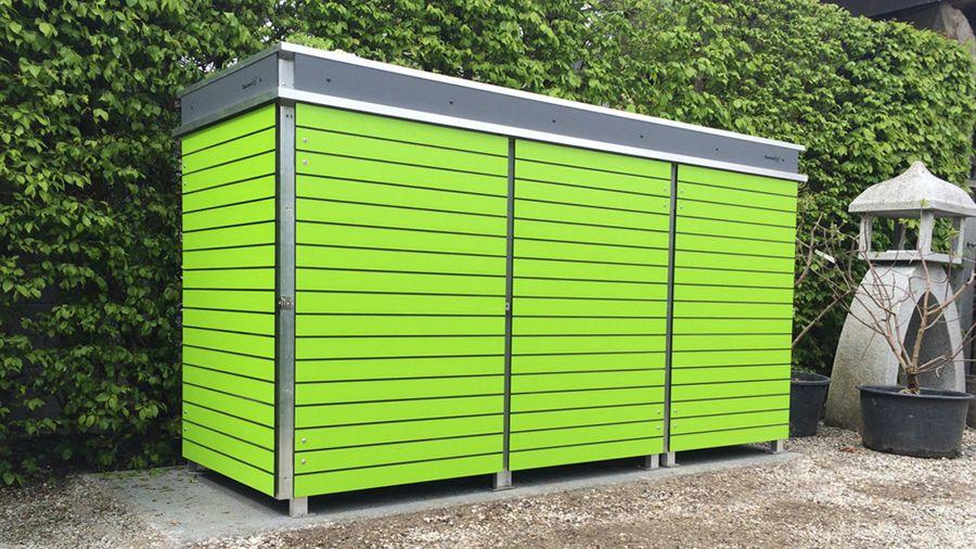 moderne m llboxen mit dachbegr nung von garten q m llbox m lltonnenbox selber bauen. Black Bedroom Furniture Sets. Home Design Ideas