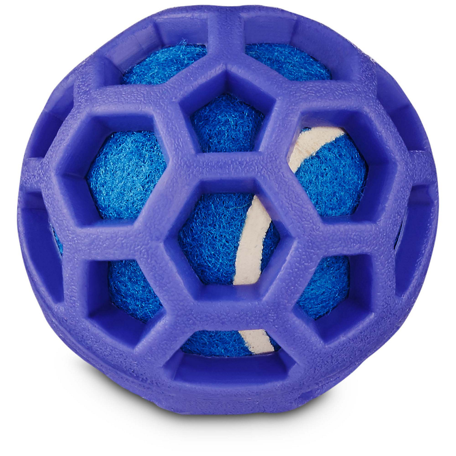 Leaps Bounds Chomp And Chew Tennis Ball Dog Toy With Tpr Cage In