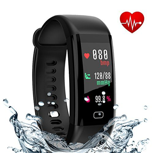 fitness tracker smart band with heart rate and blood pressure
