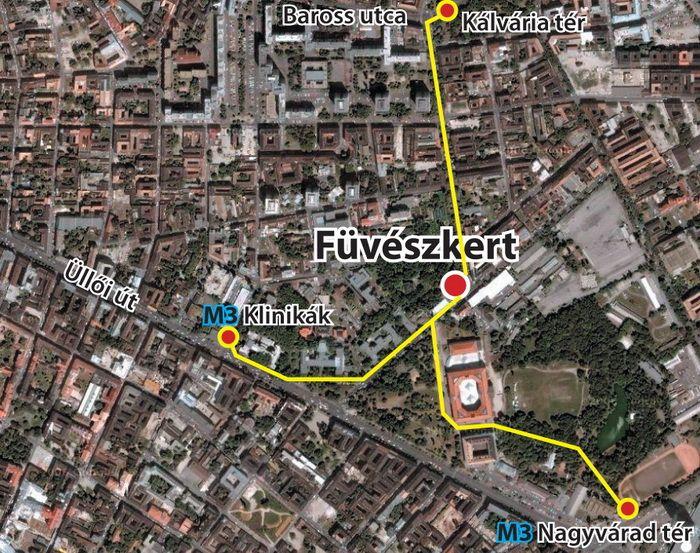 Fuveszkert Terkep Budapest City Photo Photo