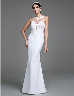 Lanting Bride® Trompette / Sirène Robe de Mariage  Longueur Sol Bijoux Tulle avec Appliques