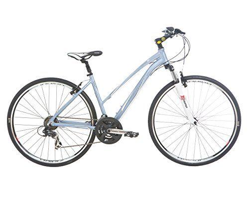 Indigo Women S Verso X1 Hybrid Bike White 17 5 Inch Hybrid Bike Hybrid Bicycle Bike