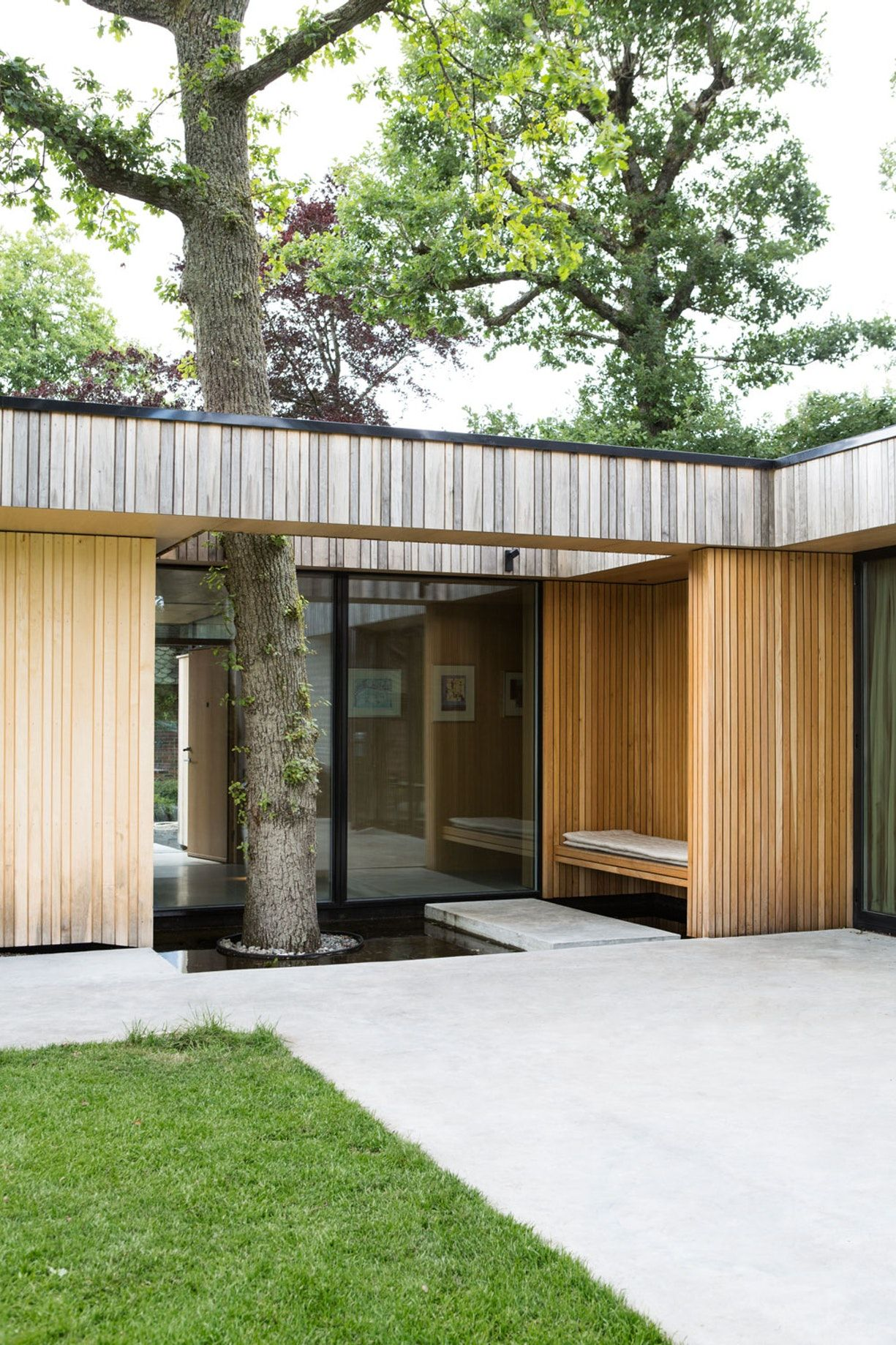 Bygd for et liv under eiketrærne   Hus, Arkitekter, Bygd on Bade Outdoor Living id=13257