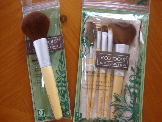 EcoTools Cosmetic Brushes- I love these, they're affordable and are just like the high-priced ones at Sephora