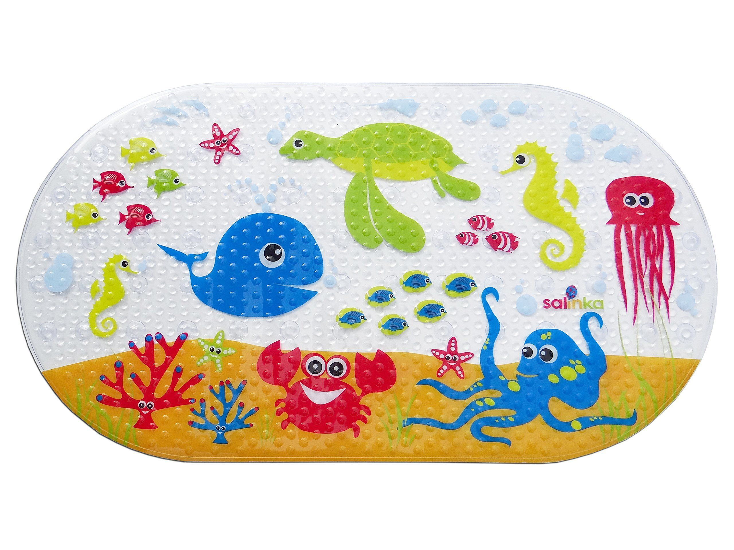 Hospital Bag Salinka Ocean Anti Slip Baby Bath Mat Phatalates And Lead Free Non Slip Mat For Bathtub And Shower Durable Mildew Mol Bath Mat Pvc Material Home Decor Store