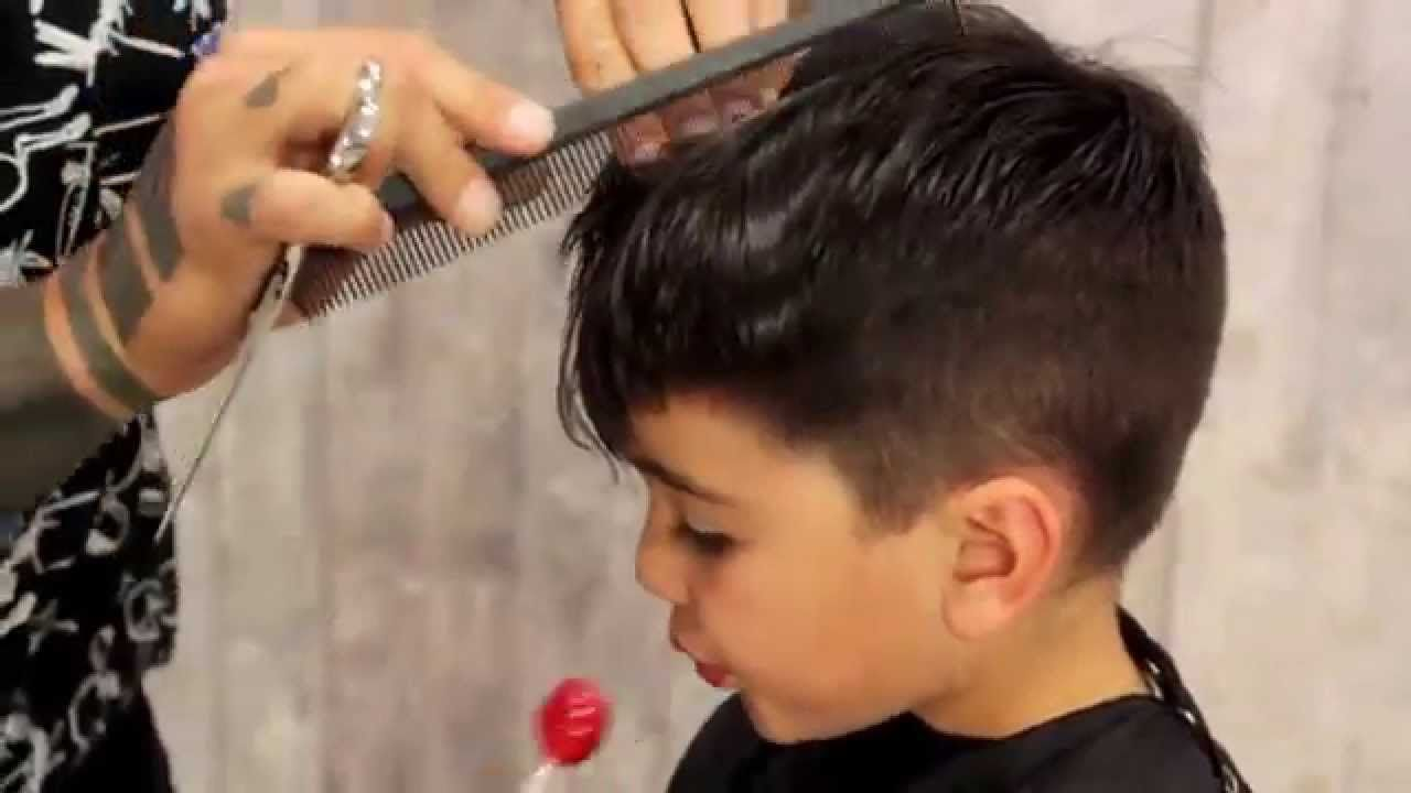 Zak Mascolo Gives His 5 Year Old Son Gaetano A Haircut Demonstrating