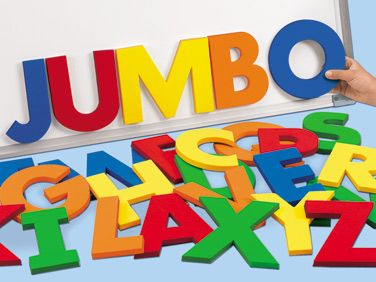 jumbo 5 magnetic foam letters uppercase set of 26 for 3995 through lakeshore