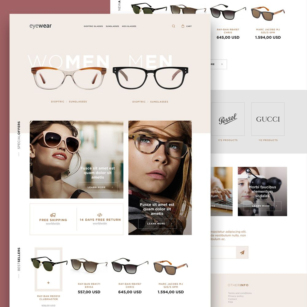 A fashion website - Awesome Eyewear Sunglasses Store Website Template Free Psd Download Eyewear Sunglasses Store Website Template Free Psd This Is A Fashion E Commerce
