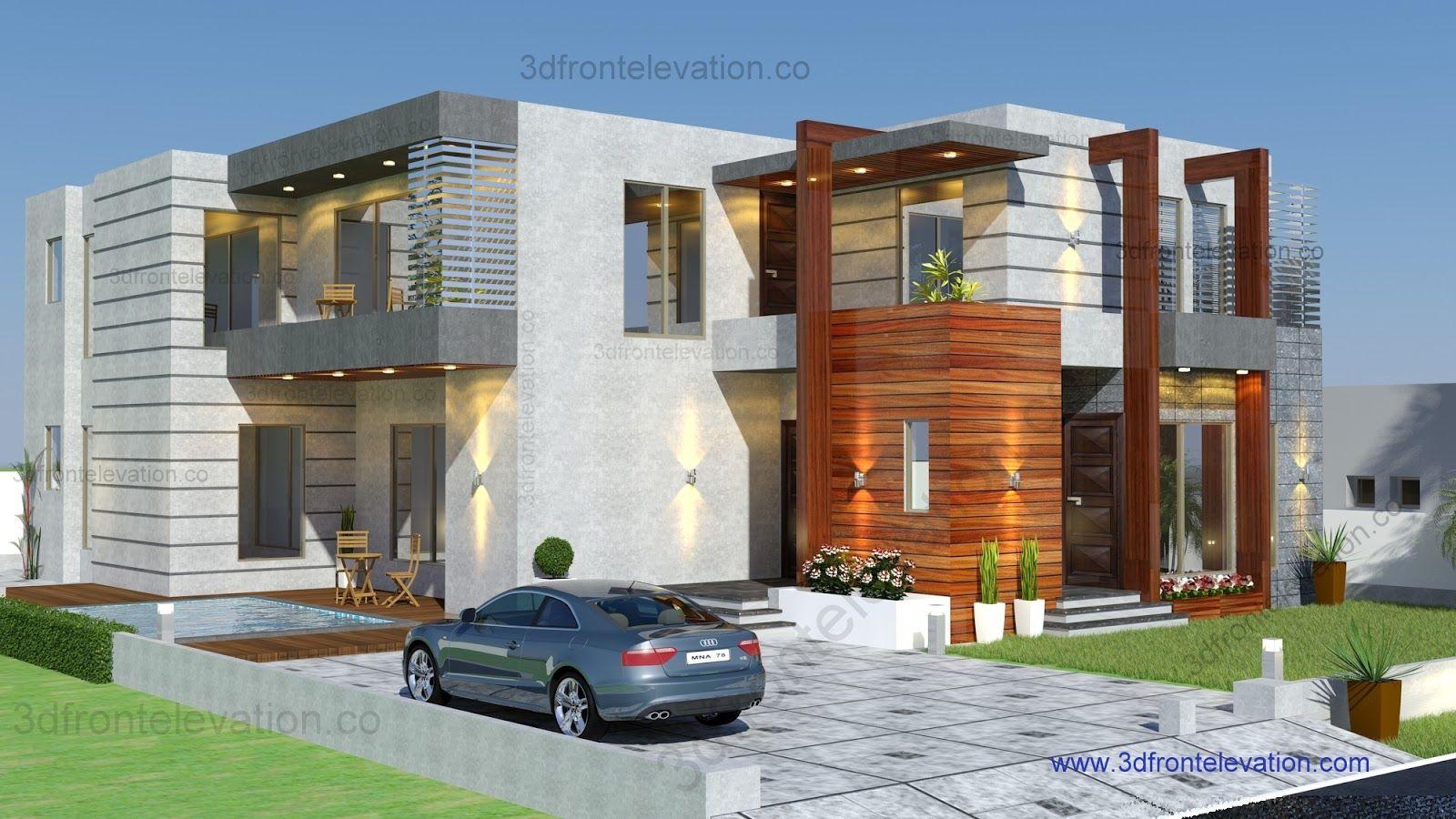 Pakistan modern home designs modern desert homes - Contemporary Modern Villa Commercial European Maps Bungalow Design Interior