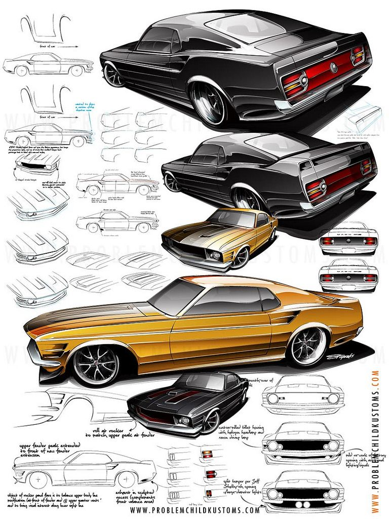 Mustang Details Car drawings, Car design sketch, Concept