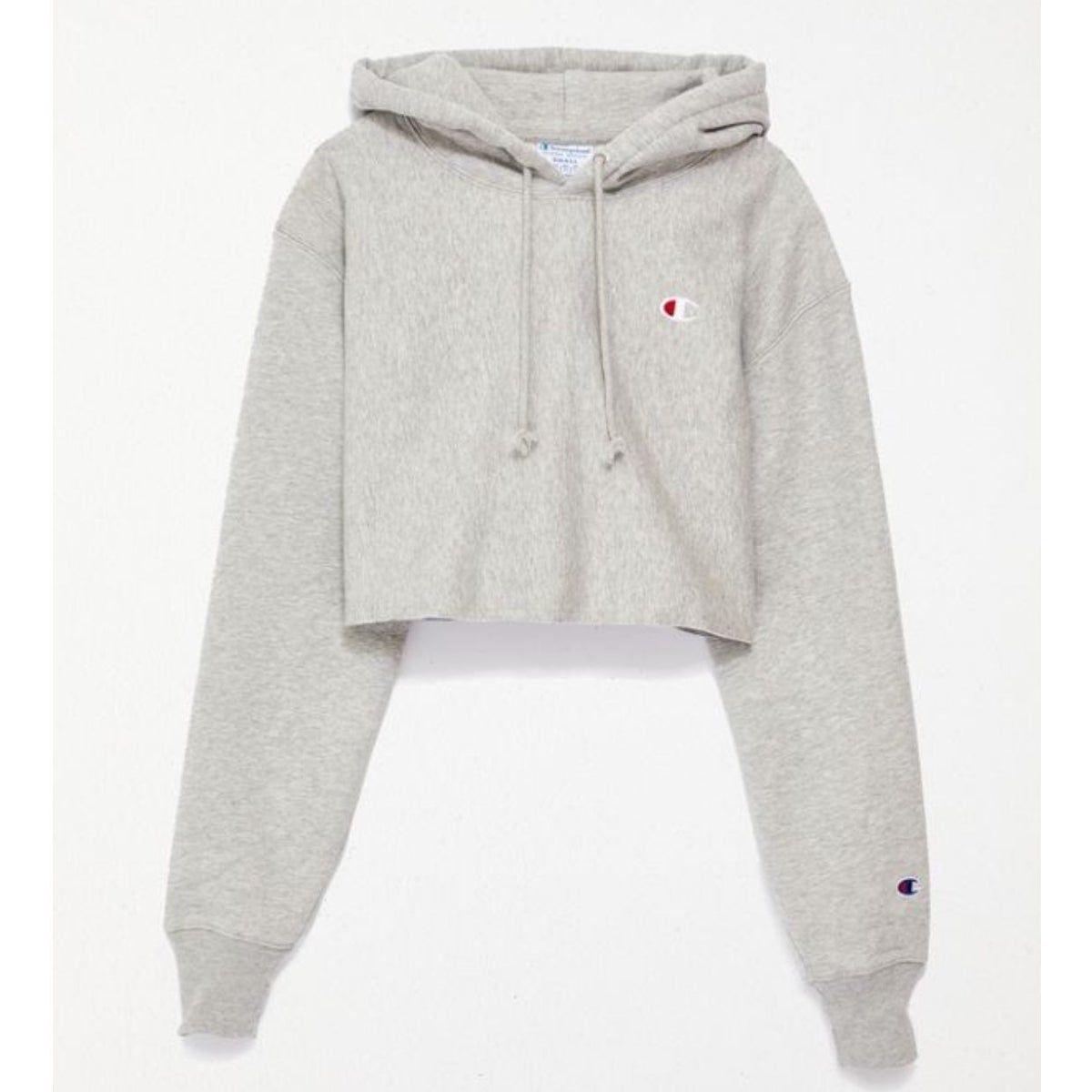 Champion Reverse Weave Cropped Hoodie In 2021 Crop Sweatshirt Hoodie Girls Sweatshirts Hoodie Cropped Hoodie [ 1200 x 1200 Pixel ]
