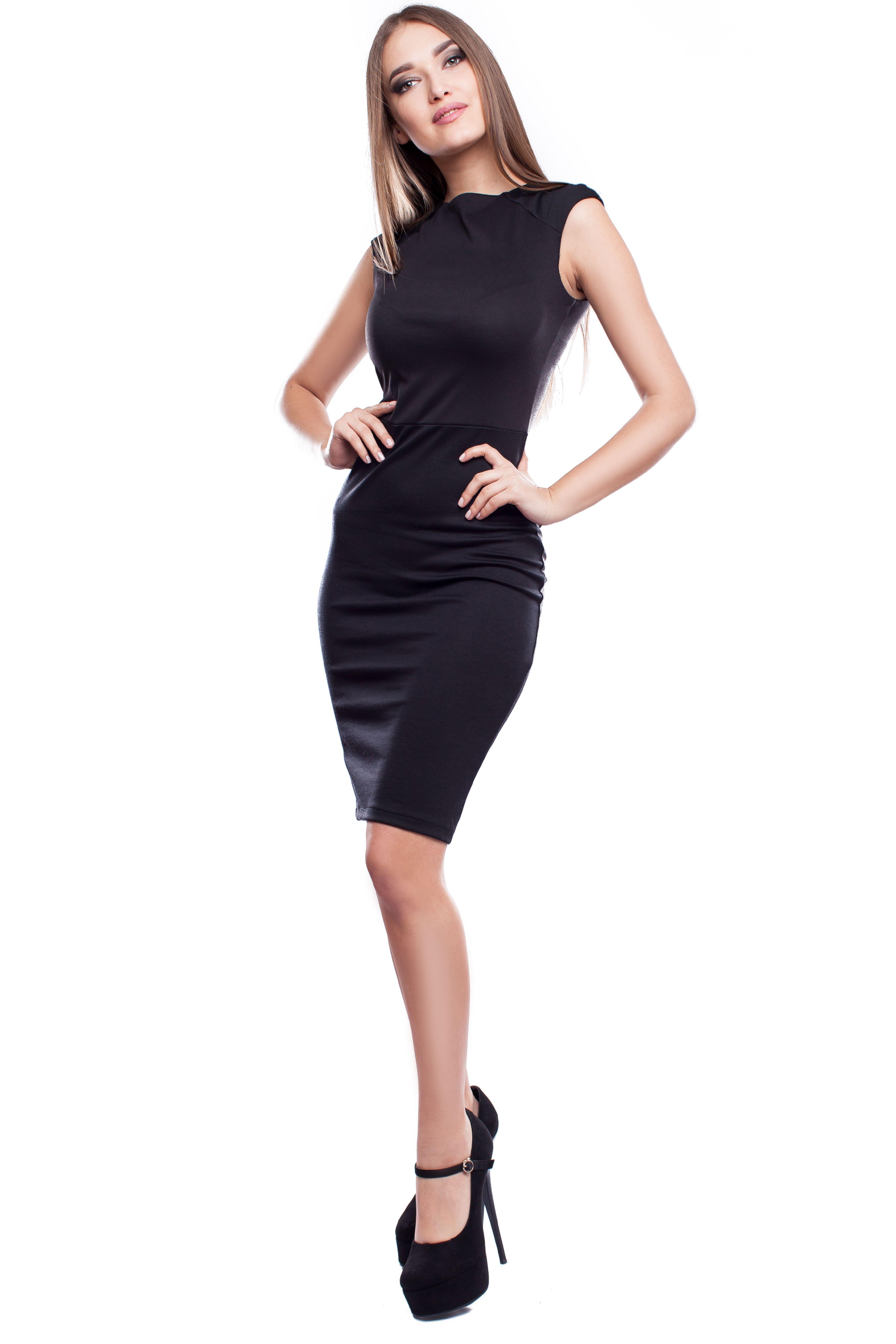 Классическое маленькое черное платье Дина от Karree   женскаяодеждамоднакраина Размеры  S Цена  366 5a741e980df