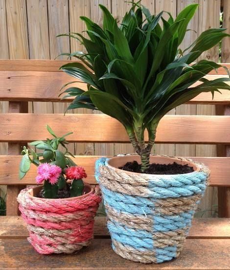 Ideas para decorar el jardin con macetas buscar con - Macetas con luz baratas ...