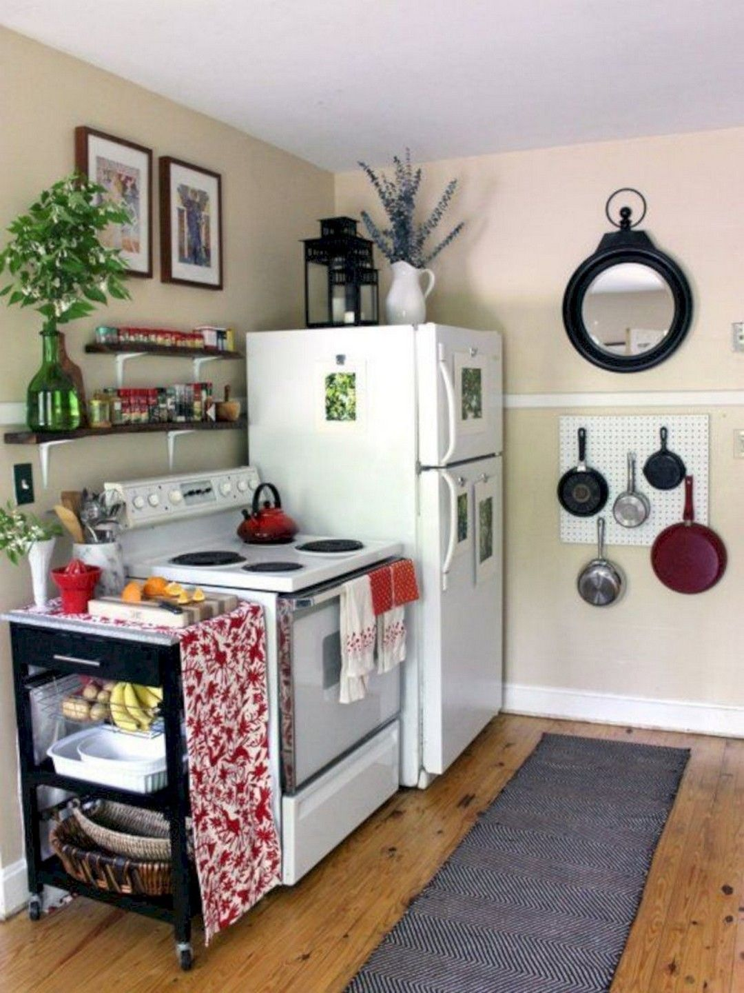 10 Clever Ways To Improve Your Apartment On A Budget Kitchen Decor Apartment Small Apartment Kitchen Decor Small Apartment Kitchen