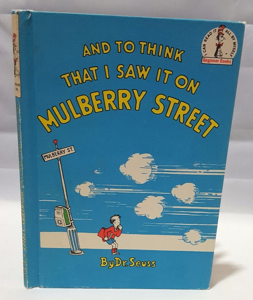 And To Think I Saw That On Mulberry Street Dr Seuss 1964 Hardcover Illustrated Kids Story Books Seuss Mulberry Street