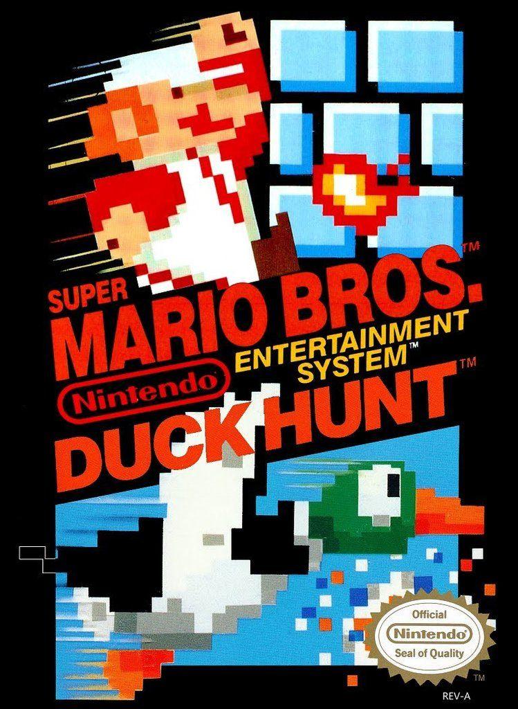 Super Mario Bros Duck Hunt Cover Art Nes Games Duck Hunt Nes