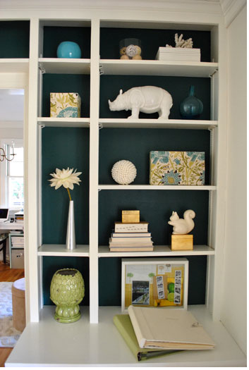 Back Painted Bookshelves Are Always An Unexpected Surprise And They Make All The Difference This