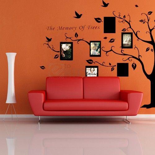 Multi Flower Tree Mural Home Window Art Decor Mural Wall Paper ...
