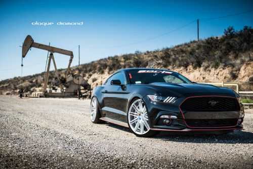 h-o-t-cars:  2015 Ford Mustang Fitted With Staggered 22 Inch...