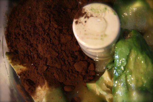 Avocado chocolate mousse.