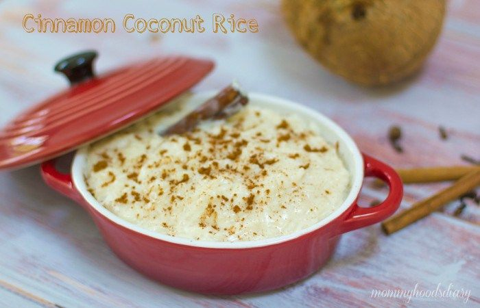 Coconut Cinnamon Rice Pudding - Mommy's Home Cooking