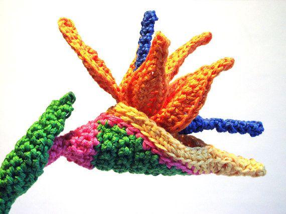 Patrón de flor Ave del paraíso Crochet - MELI BONDRE | Cosas que ...