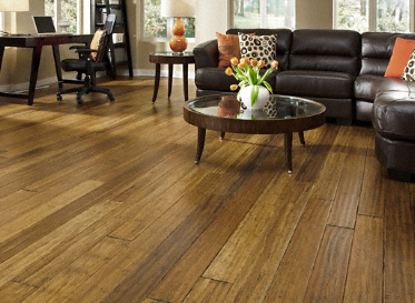 Bamboo Flooring Honey Strand Distressed Wide Plank Solid Bamboo