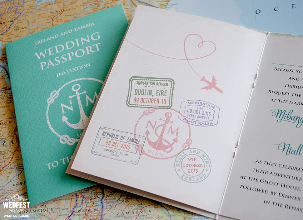 Passport Wedding Invitations Invitaciones de boda