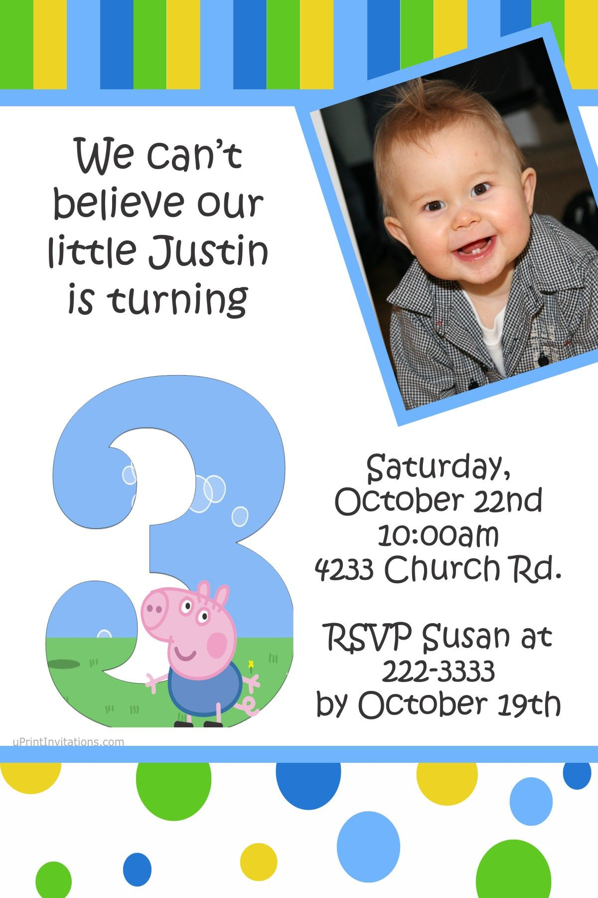 2nd Birthday Invitations Diy Boy Parties 3rd Printing Services