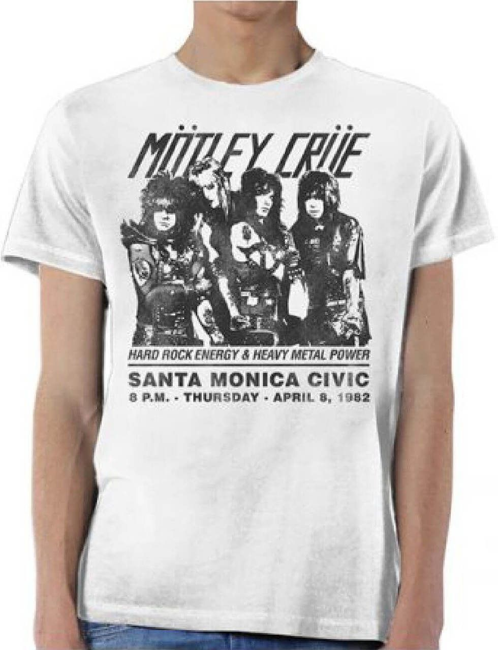 f6eb2be5627e This men s vintage Motley Crue tshirt spotlights the promotional poster  artwork for the hard rock band s April 8
