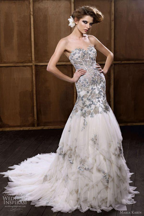 formal wedding feather wedding gowns