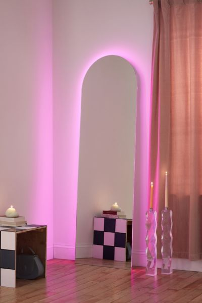 Yvette Led Floor Mirror In 2020 Floor Mirror Neon Room Mirrors Urban Outfitters