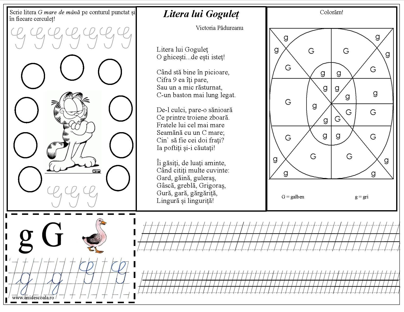 Litera G Proverbe Romanești Joc Didactic și Fișe De Lucru In 2020 Alphabet Words Word Search Puzzle
