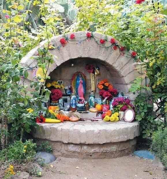 Altar de jardin garden alter sacred spaces pinterest altars and gardens - My little jardin ...