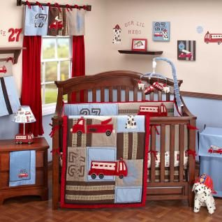 Attractive Baby Boy Room Engine 27 6 Piece Baby Crib Bedding Set By Nojo