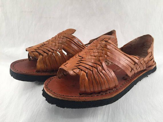 e74cef2cb854 WOMENS LEATHER HUARACHE Sandals made in mexico with tire sole  all ...