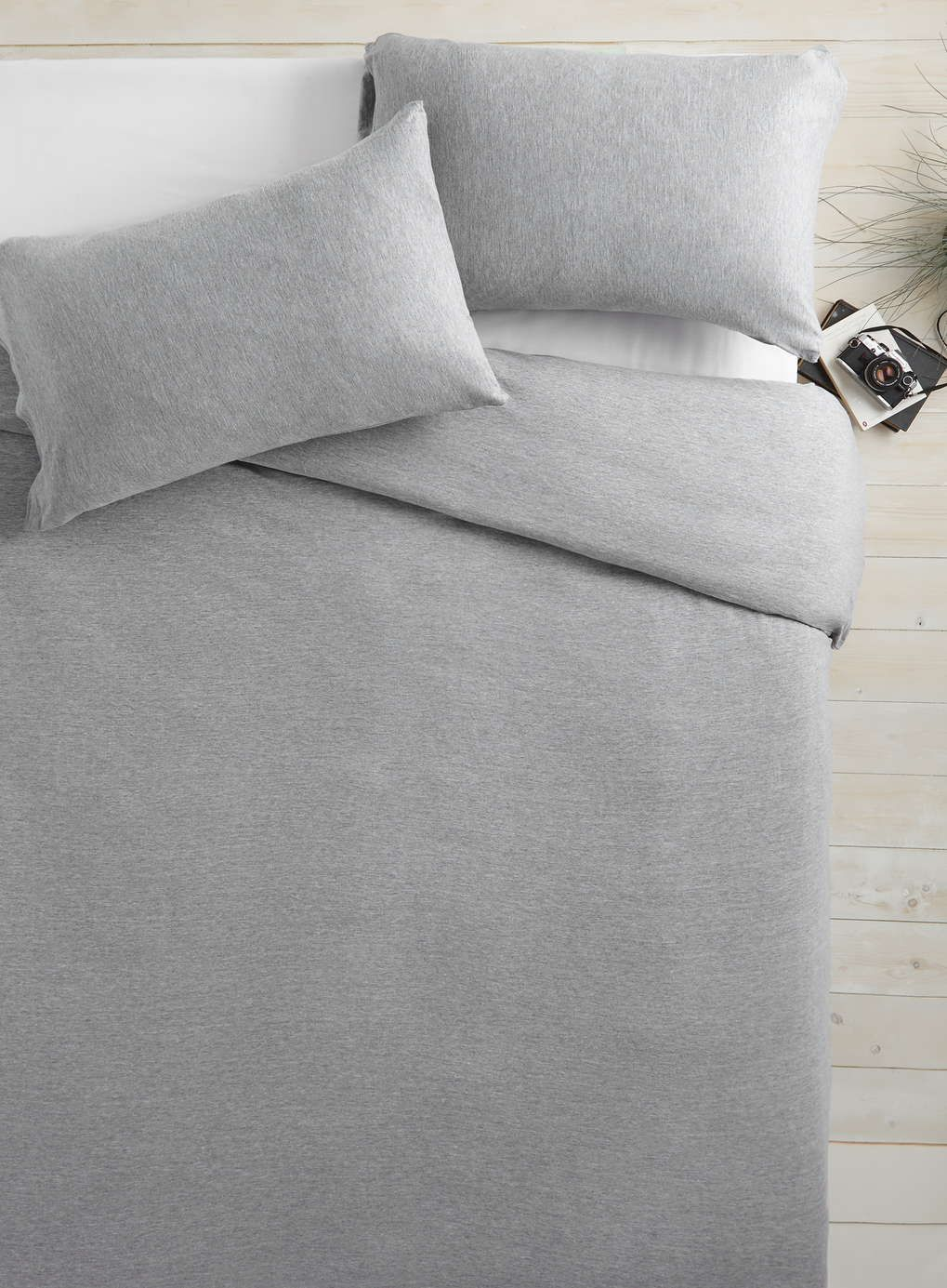 Grey Marl Jersey bedding FUTURE HOME Pinterest