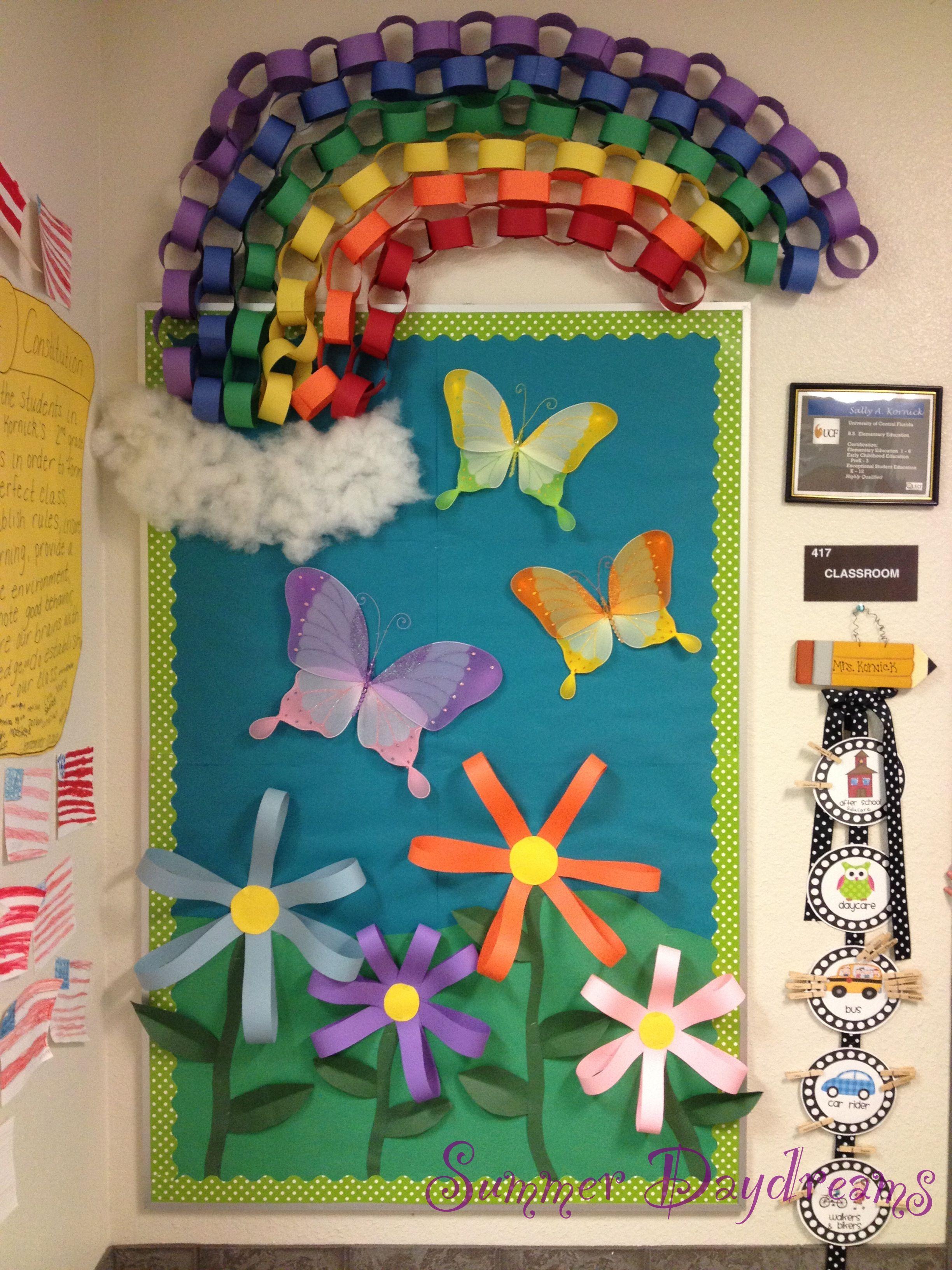 Spring Bulletin Board Like The Butterflys
