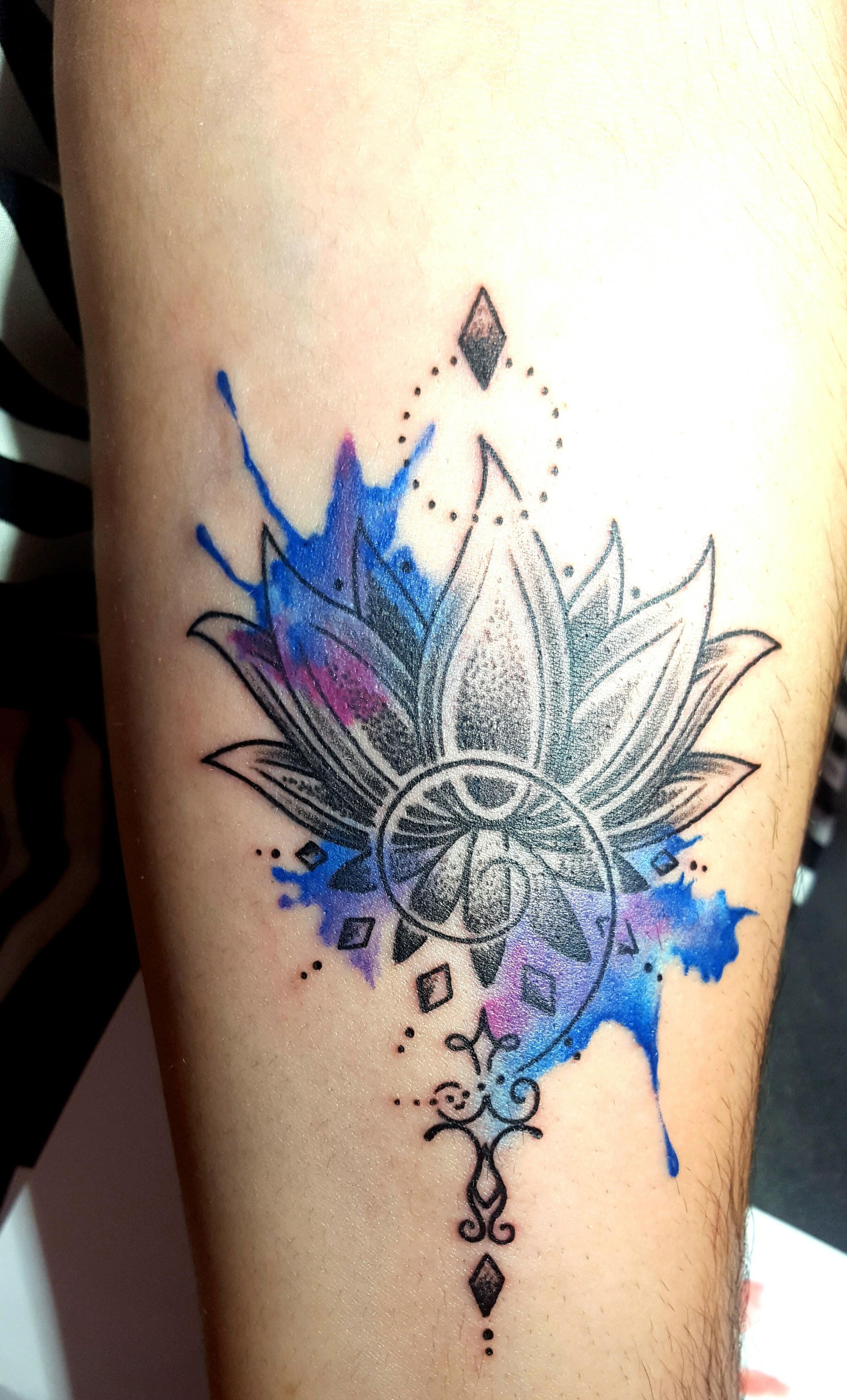 Watercolour Black Lotus Forearm Tattoo By Ines Vital Lucky 13 Albufeira Portugal Floral Tattoo Design Flower Tattoo Designs Lotus Flower Tattoo Design