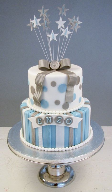 Image Result For 1 Year Old Birthday Boy Blue Ombre Cake Idee