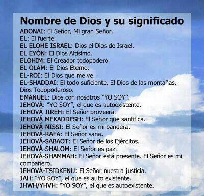 Nombres De Dios Y Su Significado Gods Promises God Bible Study