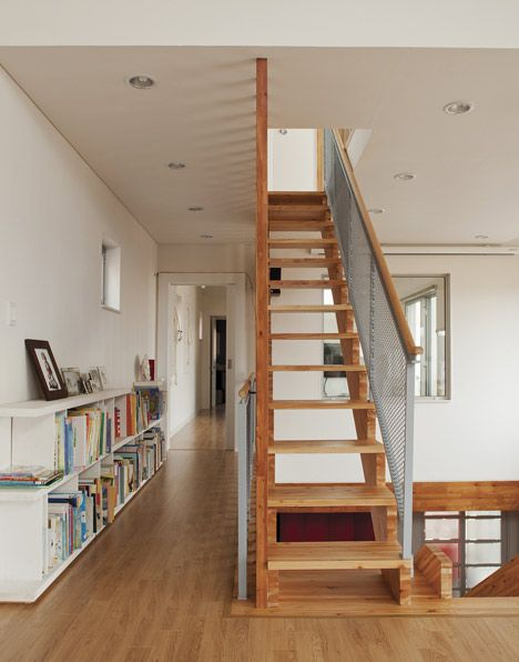 Panorama House with a slide by Moon Hoon Stair case, House and