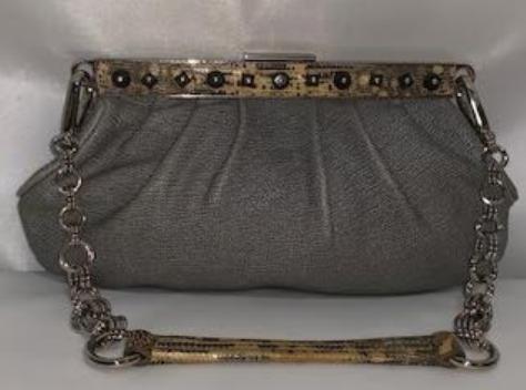 Prada Calf Leather Snake Trim Skipper Calf Leather Leather Handbag Deals