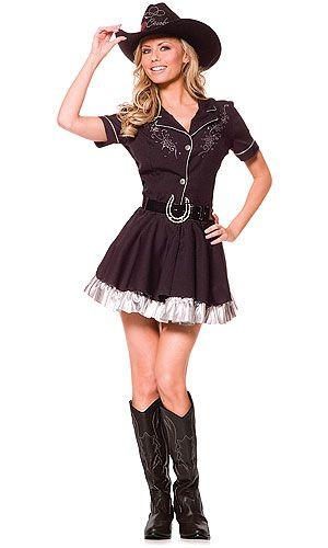Adult Rhinestone Cowgirl Costume Cowboy and cowgirl, Cute - halloween costume ideas for tweens
