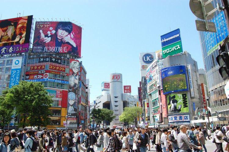 人混み(渋谷のスクランブル交差点)   フリー素材ドットコム   東京 風景, 渋谷 スクランブル交差点, スクランブル交差点
