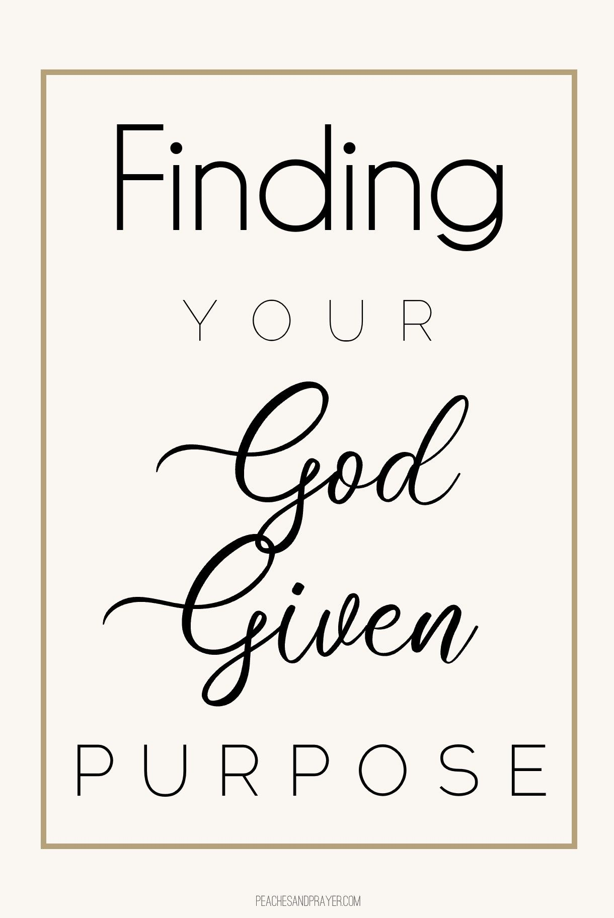 Finding Your God Given Purpose Free Printable
